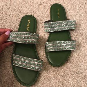 Emerald sandals